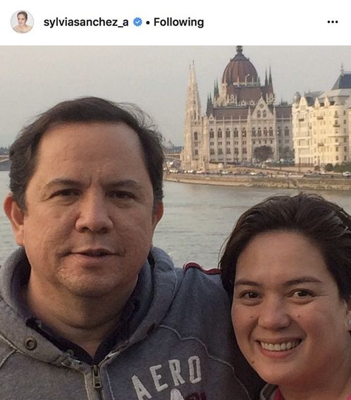 Sylvia Sanchez with her lovable husband