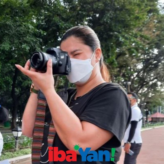 BEHIND-THE-SCENES: Iba 'Yan's host Angel Locsin with Rizal Park Photographers
