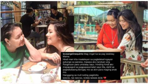 Angeline Quinto and Mama Bob's Photos