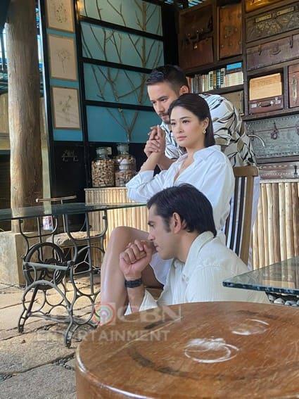 Behind-the-scene photos of Init Sa Magdamag pictorial
