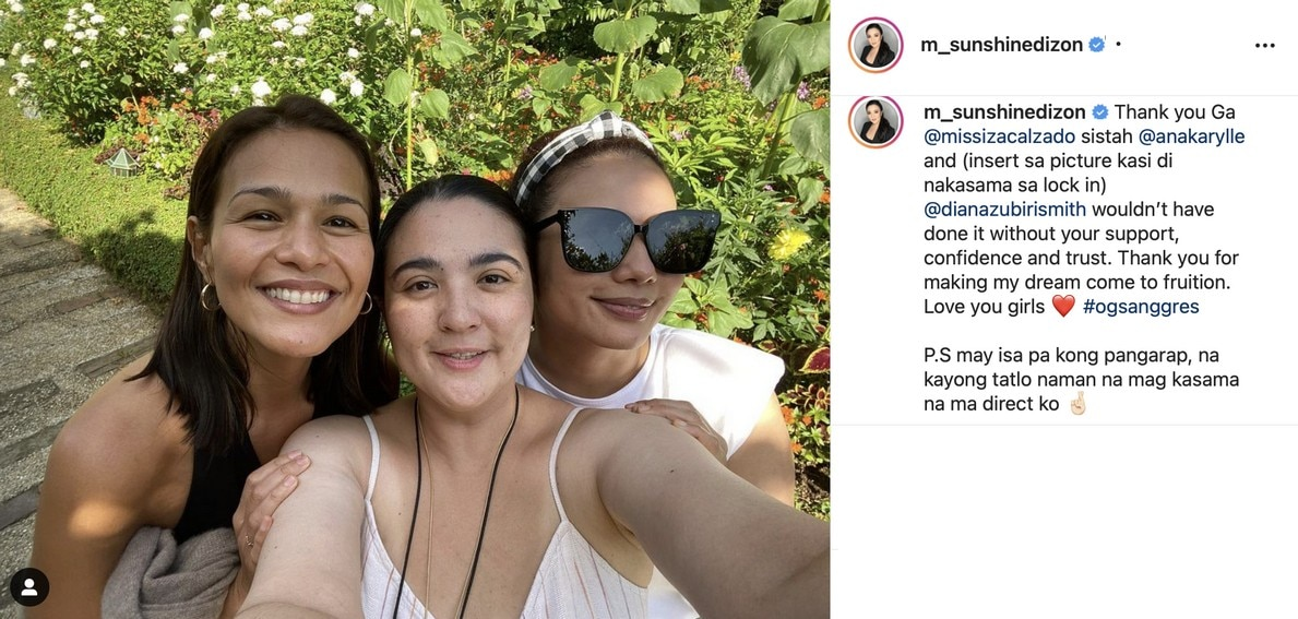 Iza Calzado and Sunshine Dizon's friendship