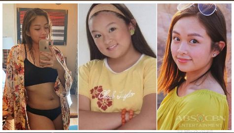 Then & Now photos of Goin' Bulilit graduate Trina Legaspi