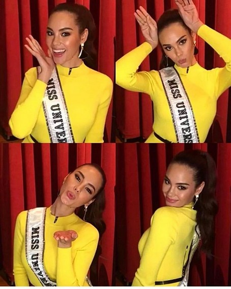 Miss Universe Catriona Gray It's Showtime wearing yellow philippines