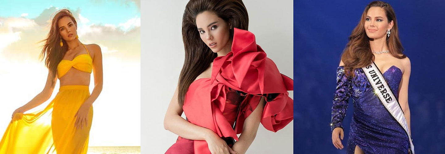 Miss Universe 2018 Catriona Gray Philippines red blue yellow its showtime