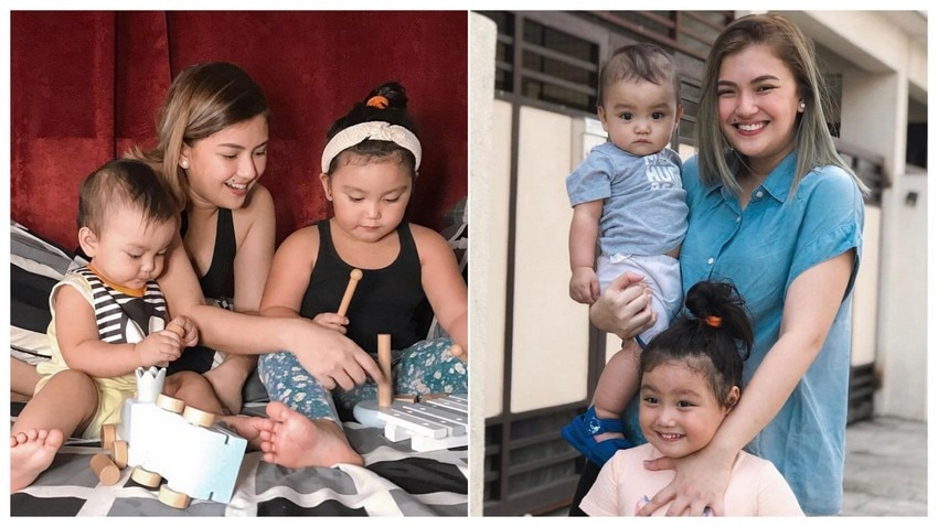 IN PHOTOS: Mommy Karen Reyes with her two adorable kids