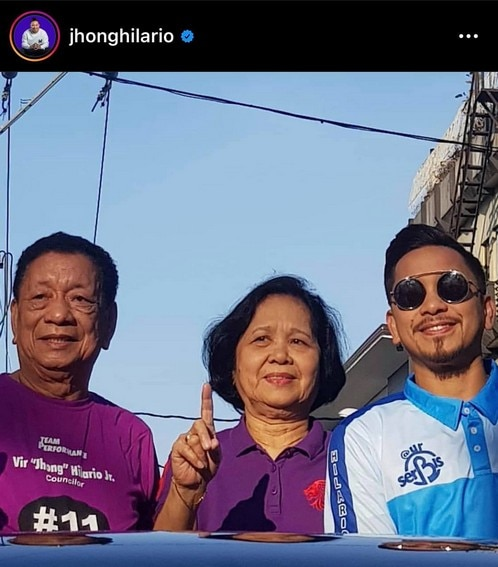 Jhong Hilario parents mommy daddy