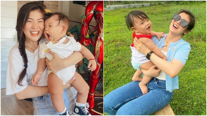 showtime  former girltrend Mikee baby daughter photos