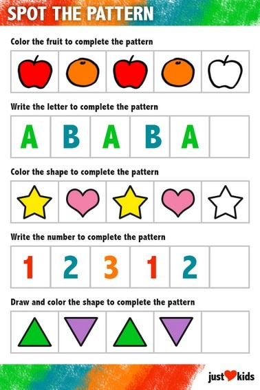 Spot The Pattern | Primary Activity Sheet