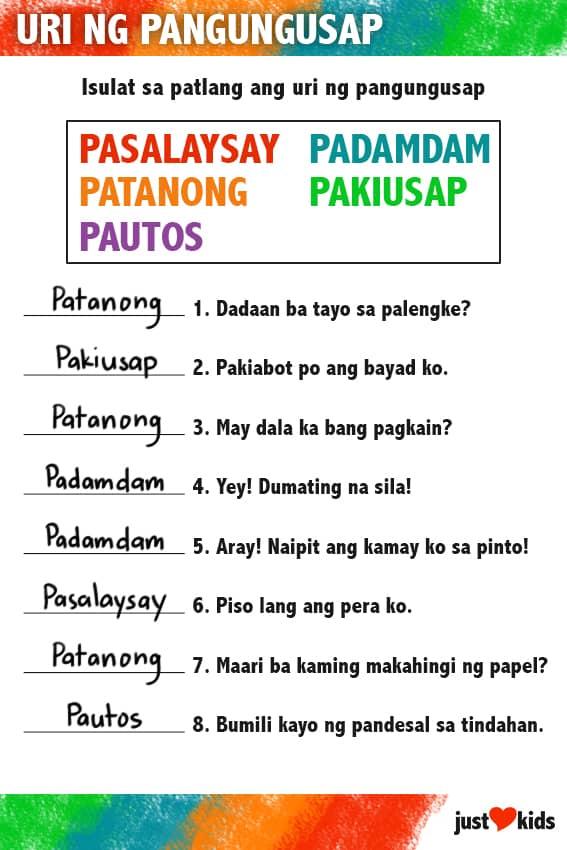 Uri ng Pangungusap | Intermediate Answer Key