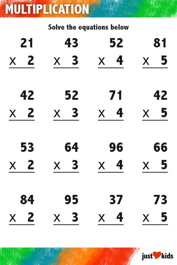 Multiplication | Intermediate Activity Sheet