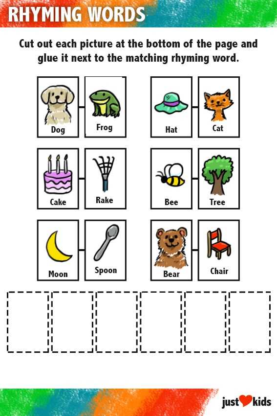 Rhyming Words | Primary Activity Sheet (Answer Key)