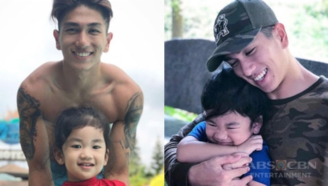 Photos of Nikko Natividad with his adorable little one