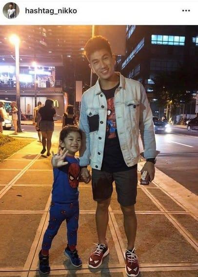 Photos of Nikko and his son Aiden