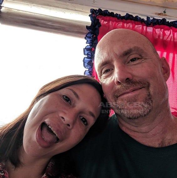 Photos of Angelina Kanapi with her lovable fiancé