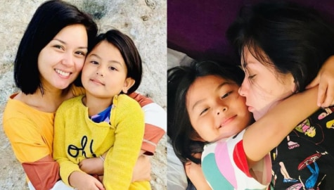 Beauty Gonzalez with her adorable mini-me