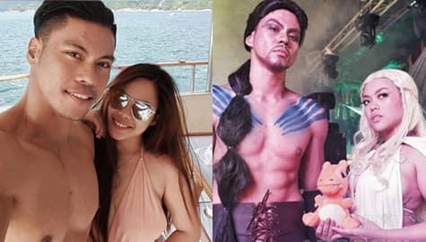 "Kim Molina with her real-life ""pogi"" boyfriend"