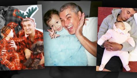 Albert Martinez photos with his granddaughter