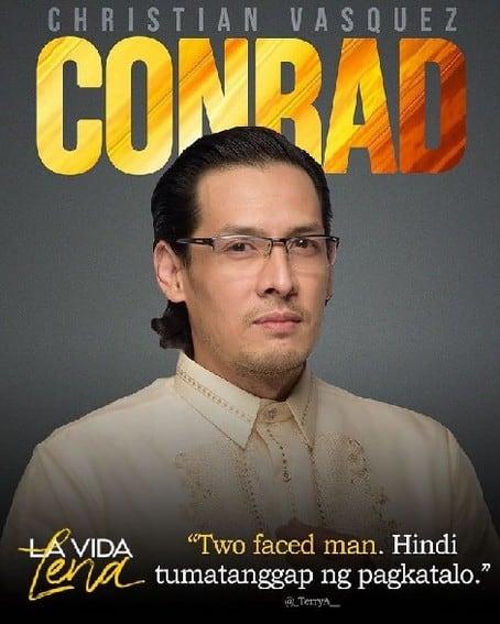 Christian Vasquez bilang CONRAD sa La Vida Lena