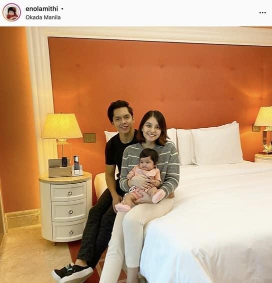 Carlo Aquino with his adorable baby girl
