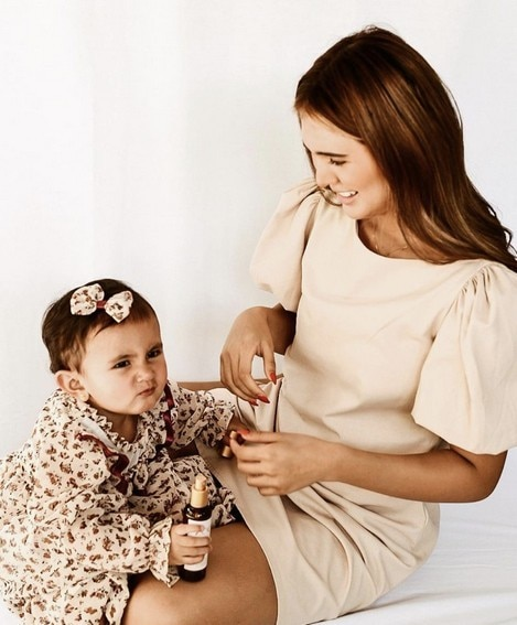 Sofia Andres with her lovely daughter Zoe