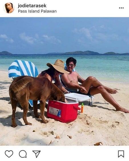 Paulo Avelino with his girlfriend