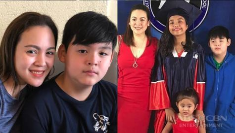 Claudine Barretto with her lovable kids