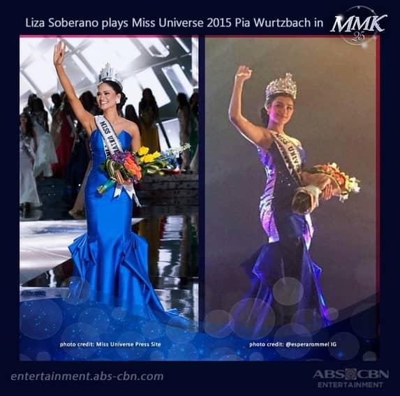 "Liza Soberano's ""beauty queen"" moment as she portrayed Pia Wurtzbach"