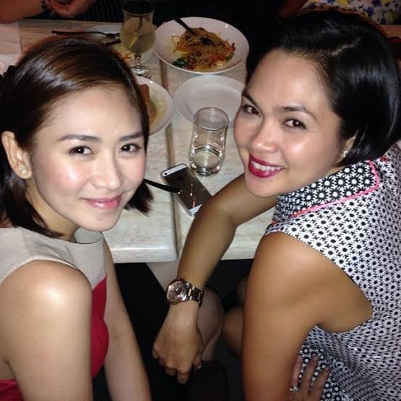 Judy Ann Santos with her royalty sister in showbiz