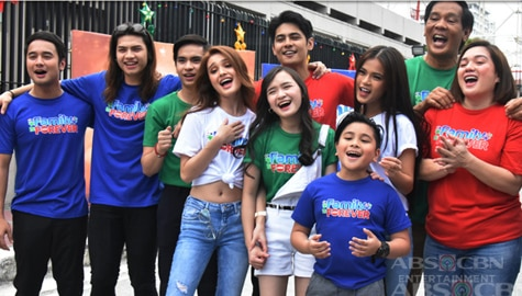 PHOTOS: Pamilya Ko cast in Christmas station ID