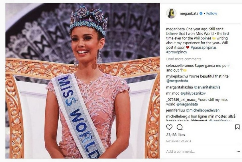 Megan Young took home the Miss World crown in 2013
