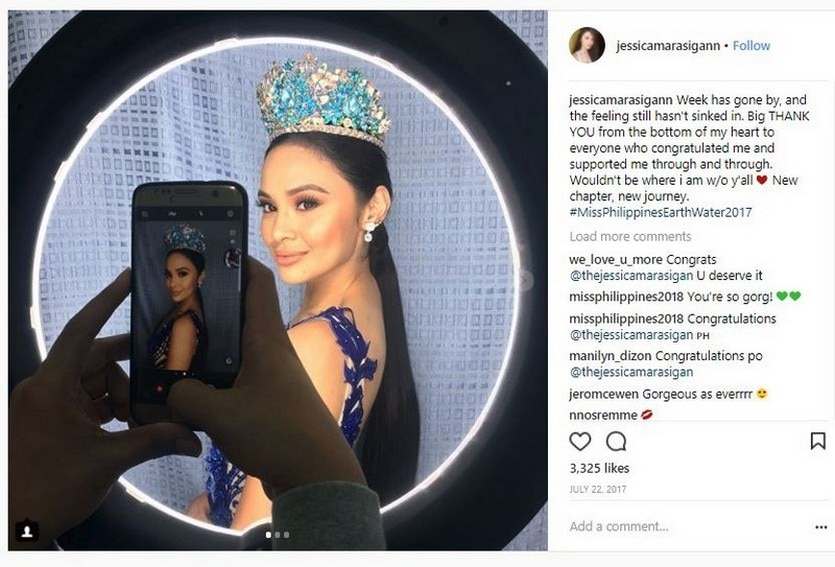 """Jessica Marasigan (""""California Dream Girl ng USA"""") bagged the Miss Philippines-Water crown in 2018"""