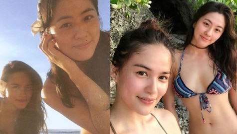 Elisse Joson with her sexy sister at heart