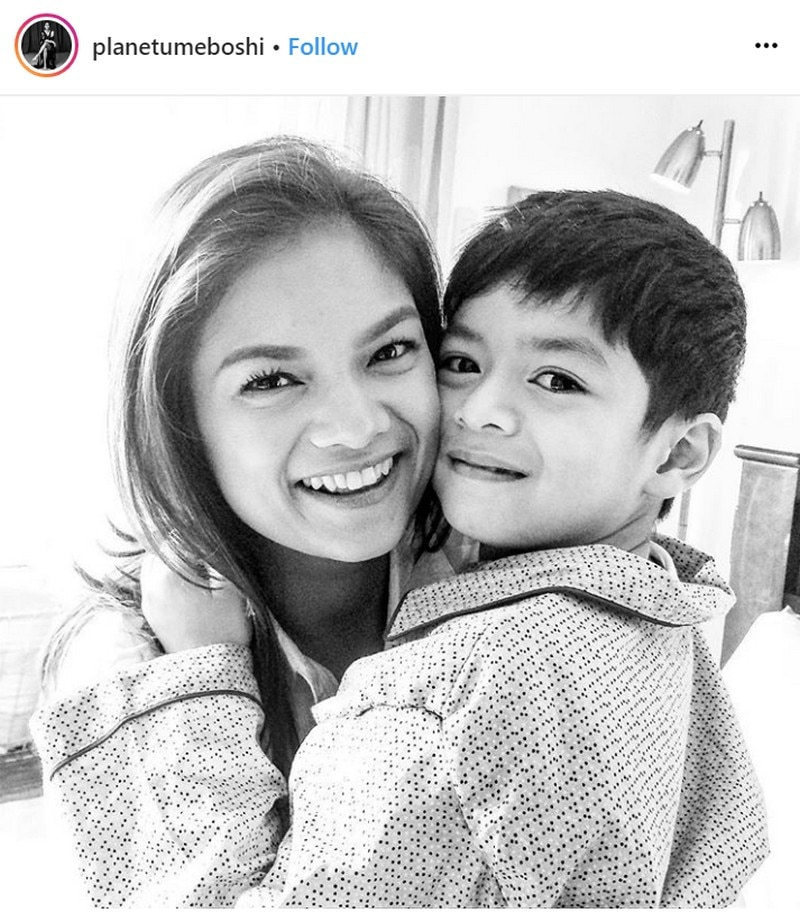 Photos of Meryll Soriano with her son Elijah