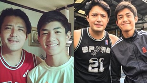"IN PHOTOS: Grae Fernandez with his equally ""gwaping"" father"