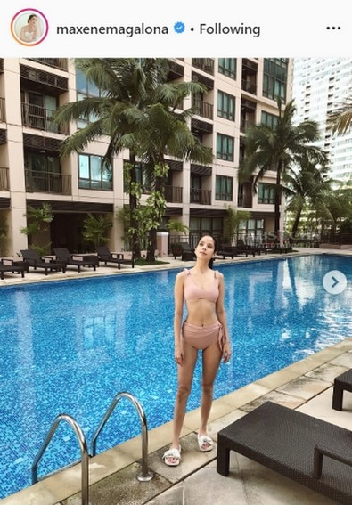 Maxene Magalona showing off her fit and sexy bod