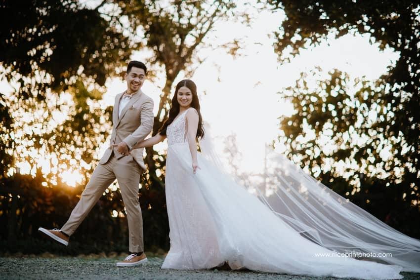 newlyweds Miko Raval and Kaira Dimatulac