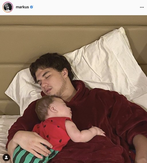 Markus Patterson moments with his son