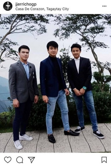 Photos of Jerome Ponce with his real-life brothers