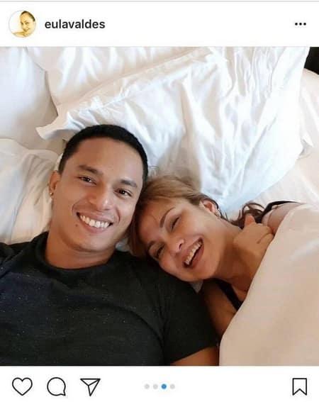 Eula Valdez with her life-partner Rocky