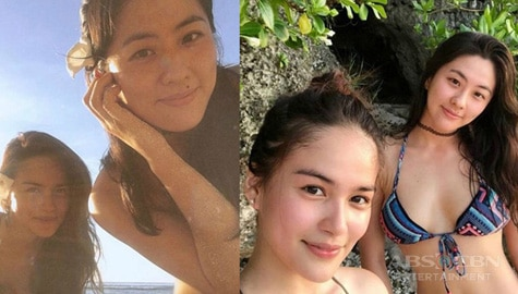 Elisse Joson with her sexy sister at heart!