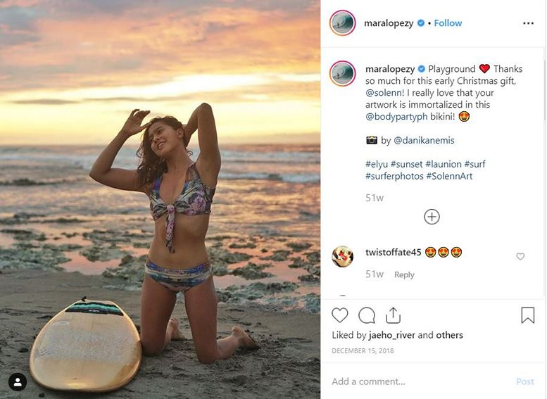 Sexy Surfer or Killer Bride? Just photos of Mara Lopez aka Agnes of The Killer Bride showing off her sexy curves!