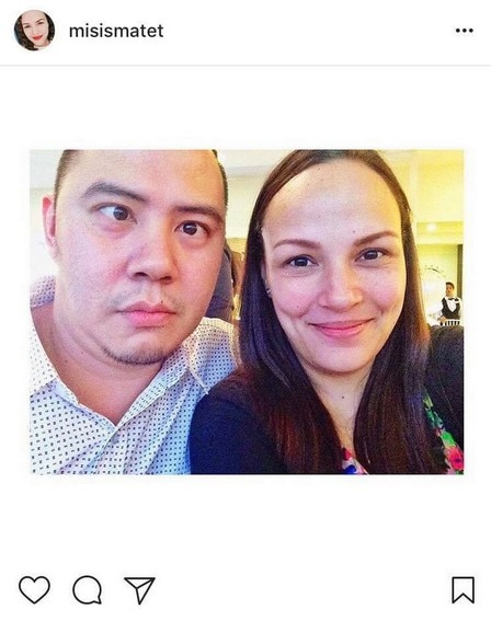 Matet De Leon with her dream husband of 17 years