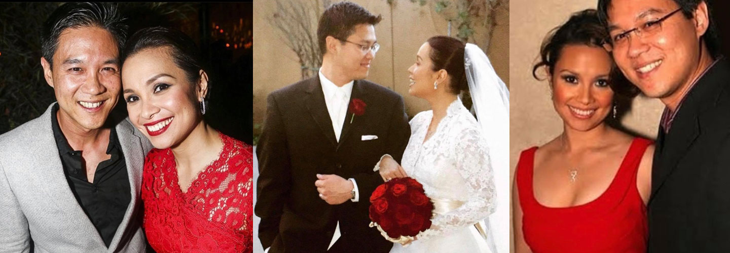 Lea Salonga with her loving husband Robert Chien