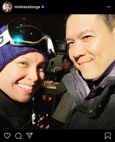 Lea Salonga with her real-life leading man