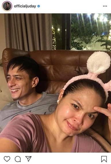 Judy Ann Santos with her loving husband