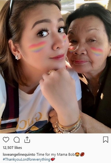 Angeline Quinto and Mama Bob's Photos