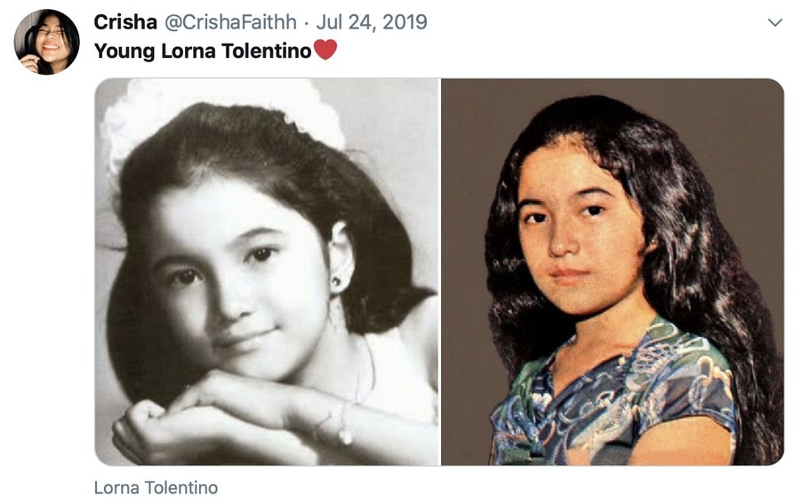 Lorna Tolentino's then-and-now photos