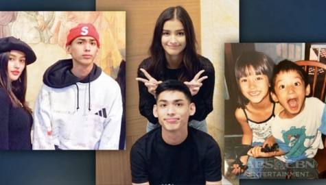 Then-and-Now Photos of Liza Soberano and her brother Justin