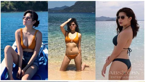 Tubig at langis ingrid dela paz star magic sexy photos swimsuit summer