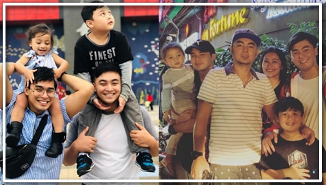 Photos of McCoy De Leon with his family